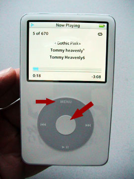 Reset iPod